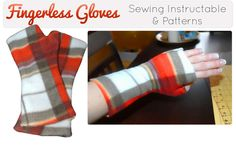 Simple Fingerless Gloves & Arm Warmers With Patterns : 4 Steps (with Pictures) - Instructables Fleece Crafts, Fleece Projects, Fabric Crafts, Sewing Crafts, Sewing Projects, Sewing Hacks, Sewing Tutorials, Sewing Patterns, Fleece Patterns