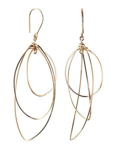 14K Gold Fill Oblong Orbital Earrings by By Philippe at Neiman Marcus Last Call.