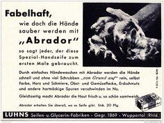Original-Werbung/ Anzeige 1937 - ABRADOR HANDSEIFE / LUHNS - WUPPERTAL - ca. 140 x 100 mm