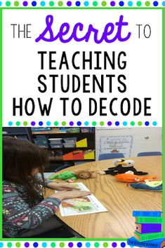 Do you want to know the secret to teaching your students how to decode? This guided reading strategy will help your students independently and successfully implement decoding strategies! Guided Reading Strategies, Decoding Strategies, Reading Lessons, Reading Resources, Reading Activities, Teaching Reading, Reading Comprehension, Teaching Ideas, Reading Tutoring