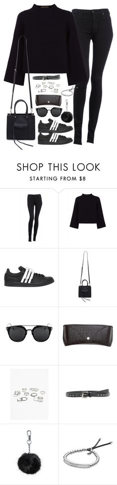 """""""Untitled#4233"""" by fashionnfacts ❤ liked on Polyvore featuring Hudson Jeans, Jaeger, adidas, Rebecca Minkoff, H&M, Free People, Yves Saint Laurent, Topshop and Michael Kors"""