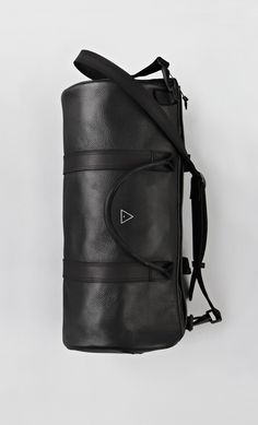Black Leather Boxing Duffle
