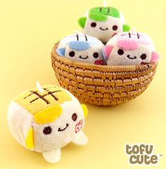 Buy Kawaii Tofu Cube Plush Phone Charm at Tofu Cute