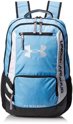 Under Armour Hustle Backpack, Carolina Blue, One Size Cute Backpacks, School Backpacks, Backpack For Teens, Backpack Bags, Lacrosse Backpacks, Under Armour Backpack, Shoulder Bags For School, Crew Clothing, Blue Nike