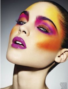 Image result for avant garde red and yellow makeup