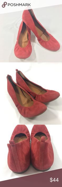 J Crew Anya Red Suede Ballet Flats 9 J Crew Anya Red Suede Flats  9  Made in Italy J Crew Shoes Flats & Loafers