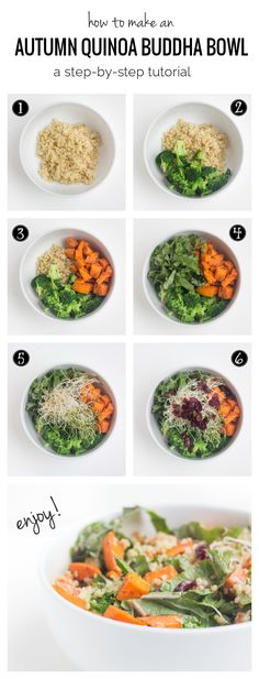 How to make a quinoa buddha bowl in 7 EASY STEPS - this super healthy, inspired dish has quickly become a staple for my lunches (#glutenfree and #vegan)