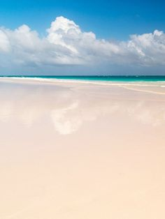 Pink Sand Beach on Harbour Island in the Bahamas. This Is the Only Place You Have to Go This Summer via @MyDomaine