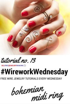 Now you can make your own midi rings with the help of this tutorial from @thequietlion. #WireworkWednesday
