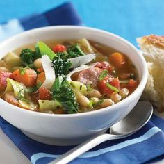 Kale, Bean, and Italian Sausage Soup. Didn't really follow the recipe exactly but definitely made some good soup!!
