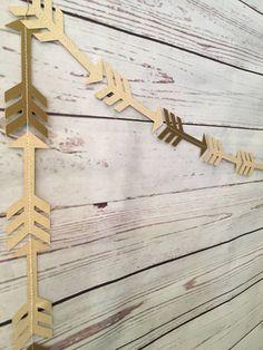 Tribal Arrow Garland Kraft and Gold Arrow by EmptyNestHomeGoods
