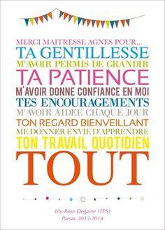 "Image of Affiche ""Merci Maîtresse""                                                                                                                                                                                 Plus"