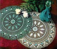 DOILY CROCHET Patterns BEADED Pineapples RUFFLES Tatted TAT Knit TULIP LEAF