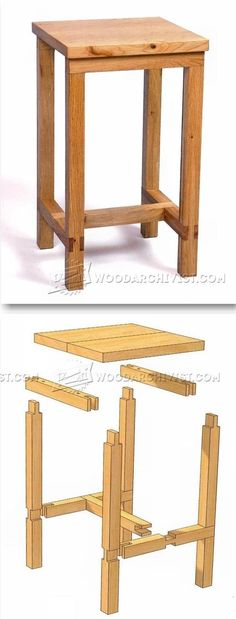 Bench Stool Plans - Furniture Plans and Projects | WoodArchivist.com #woodworkingprojects #WoodworkingPlans