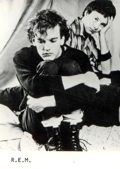 Michael Stipe and Mike Mills from R.E.M.--early days.