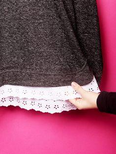 Du hättest gern einen Sweater, den so kein anderer im Schrank hat? Wir zeigen dir, wie du aus deinem alten Pullover ein cooles DIY-Trendteil machst.