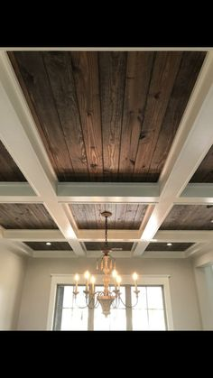 Coffered Ceiling, Tongue and Groove Coffered Ceiling, Tongue and Groove – Ceiling 2020 Cauffered Ceiling, Recessed Ceiling, Ceiling Decor, Wooden Ceiling Design, Wooden Ceilings, Colored Ceiling, Ceiling Treatments, Vintage Stil, Feng Shui