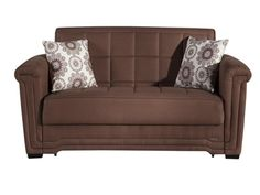 The Victoria Convertible Full Size Loveseat Sofa Bed Click Clack by Istikbal