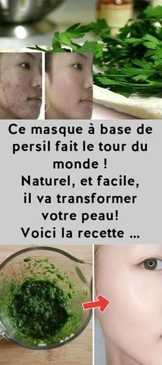 This parsley mask goes around the world! Natural and easy it will transform your skin! Here is the recipe Beauty Care, Beauty Hacks, Face Beauty, Les Rides, Face Skin Care, Skin Care Regimen, Diy Hairstyles, Good Skin, Health And Beauty