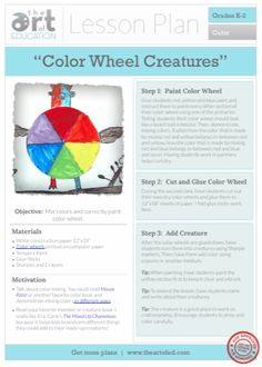 Color Wheel Creatures: Free Lesson Plan Download