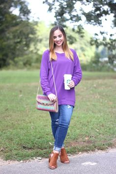 Slouchy Dolman Tunic Posted by: http://courtneyfashionista.com/2016/09/18/the-cozy-top-your-fall-weekend-needs/