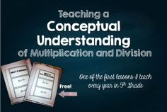 Teaching a Conceptual Understanding of Basic Multiplication and Division {Freebies} - Teaching to Inspire with Jennifer Findley