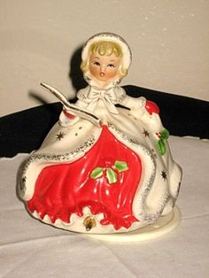 Vintage Porcelain Christmas Caroler Musical Girl Figurine Jingle Bells Napco   eBay