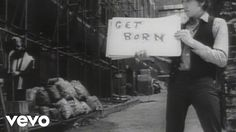 """""""Subterranean Homesick Blues"""" by Bob Dylan; promo for DJ Pennebaker film about Dylan, """"Don't Look Back,"""" from album Don't Look Back, 1965"""
