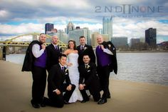 #bridal party, bride with groomsmen photo, fun wedding pictures, pittsburgh weddings, summer weddings, creative wedding photos, pittsburgh wedding photographers, @2nd II None Productions