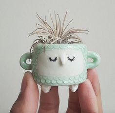 Quirky Ceramic Face Pots Are Given a Wild Hairdo When You Add a Plant - My Modern Met   -Jennifer Hinkle
