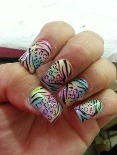 Pastel/leopardo