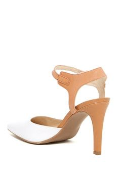 a7c8a6d6743e Franco Sarto Aviva Ankle Strap Leather Pump Designer High Heels