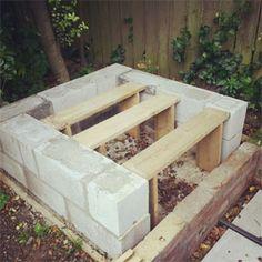 Building platform for slab