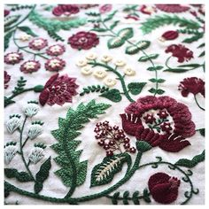 . Flower pattern . . . #embroidery #handembroidery #embroider #embroidered #embroideryart #handmade #handstitch #contemporaryembroidery #modernembroidery #needlework #broderie #creator #textileart #flowerpattern #花柄 #刺繍 #刺しゅう