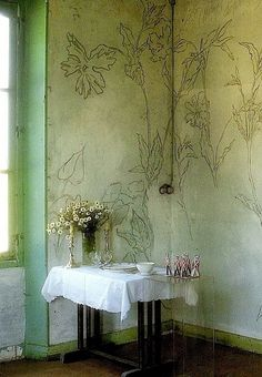 Stunning wall decorations by french artist and poet LP Promenheur .                                                     ...