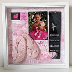 Going to make something like this for Elianna's first ballet shoes and pictures from class and her recital.