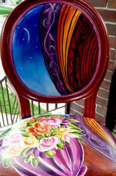 Amazing colors hand painted chairs @Lucy Kemp designs