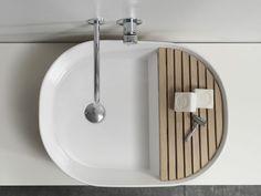 Lavabo sobre encimera de cerámica de diseño STEP by Ex.t | diseño NOTE Design Studio