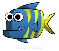 Fish drawings easy fish cartoon drawing click the image to enlarge Fish Cartoon Drawing, Cute Cartoon Fish, Cartoon Drawings Of Animals, Fish Drawings, Disney Drawings, Drawing Animals, Funny Pictures To Draw, Funny Pictures Can't Stop Laughing, Smartphone