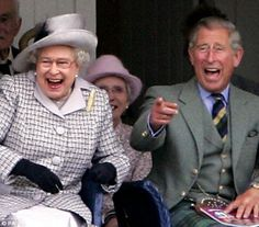 Her Majesty Queen Elisabeth II and Prince Charles at Braemar Games - Scottland
