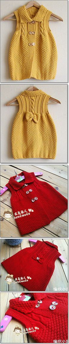 Baby Knitting Patterns Sweaters Ravelry: Clara by Karin Vester Baby Knitting Patterns, Knitting For Kids, Knitting Designs, Crochet Patterns, Free Knitting, Knitting Projects, Pull Crochet, Crochet Girls, Crochet For Kids
