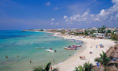 "Playa del Carmen beach.  Would love to go back one day!  :)  We spent our ""honeymoon"" there, it was great!"