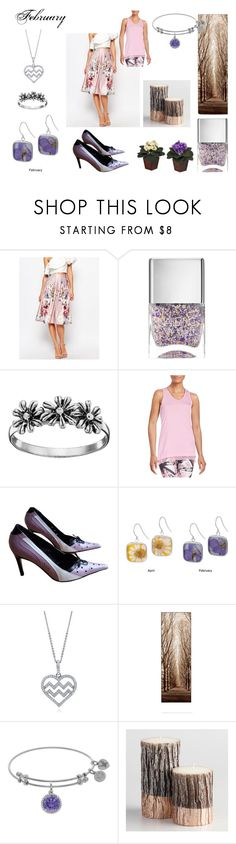 """""""February Babies"""" by christineedicks on Polyvore featuring True Violet, Nails Inc., Primrose, Nanette Lepore, GF Ferré, BERRICLE, Cost Plus World Market and Nearly Natural"""