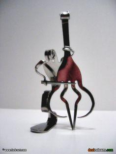 bent forks for some cool sculptures