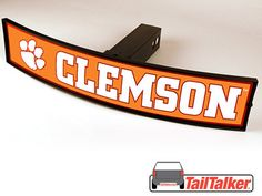 Clemson Tigers Trailer Hitch Cover Illuminated NCAA by tailtalker