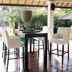 mesa alta asia comedor moderna desayunador madera 130x75x105