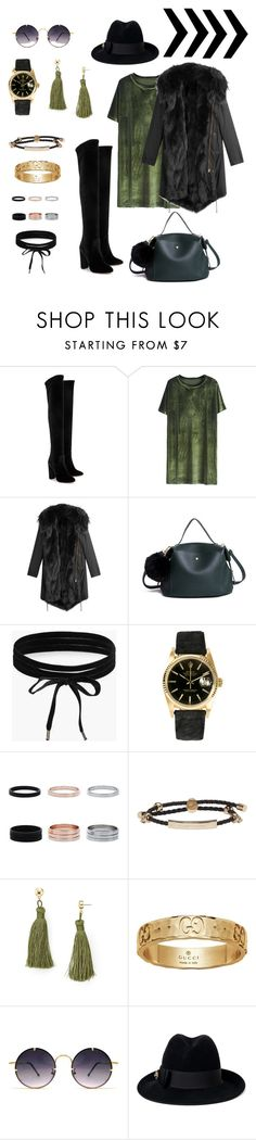 """AyanT #winter2016"" by ayashtagieva ❤ liked on Polyvore featuring Aquazzura, Barbed, Boohoo, Rolex, Alexander McQueen, Aqua, Gucci and Spitfire"
