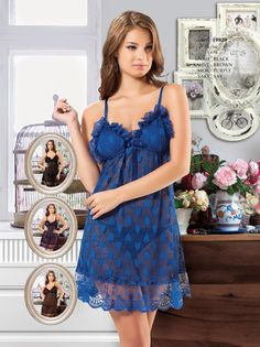 New Night İç Giyim Kalp Desenli Gecelik | Fantazigiyim.com. #fantazi #giyim #fantasy #lingerie #sexy lingerie #seksi iç giyim