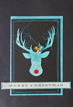 A Teacup of Scrapisms: Last Projects for Jennifer Grace's Frosty Blog Event.... deer with tangled antlers