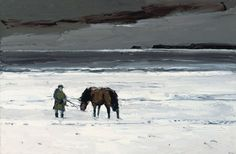 Sir Kyffin Williams' oil painting Man and Horse, image courtesy of Christie's